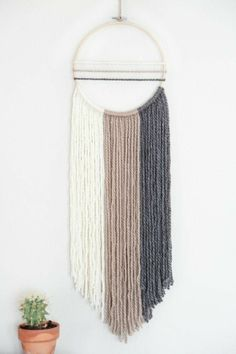 I️ can do this—white, mixed, gray, black then cut asymmetrically. Tie each color around hoop