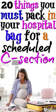 20 things you must pack in your hospital bag for a scheduled c-section Having You must pack these 20 items in your hospital bag for your c section. Only things that you need and are going to use. C section hospital bag checklist! Csection Hospital Bag, Mommy Hospital Bag, Delivery Hospital Bag, Pregnancy Hospital Bag, Hospital Bag For Mom To Be, Baby Delivery, Pregnancy Info, Hospital Bag Checklist Uk, Packing Hospital Bag