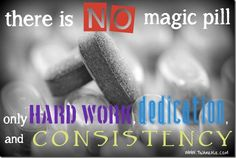 there is no magic pill