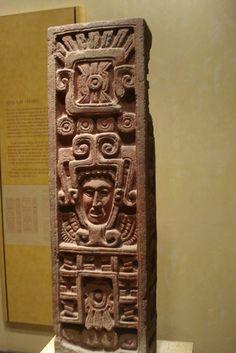 Estela tolteca Museo de Antropologia e Historia Mexico