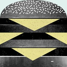 Burger Art Print  by Martin Nicolausson