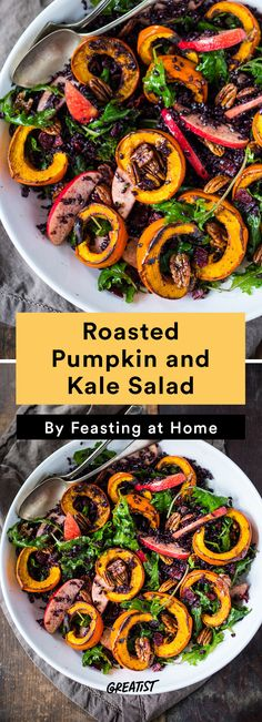 7. Roasted Pumpkin and Kale Salad #warm #salad #recipes http://greatist.com/eat/warm-salad-recipes-for-when-its-cold-out