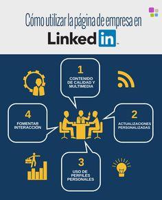 como utilizar pagina de empresa en linkedin