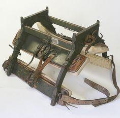 Antique steel and wood camel saddle frame / #safari chic