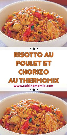 Risotto au poulet et chorizo au thermomix - The Best Comfort Recipes Pureed Food Recipes, Curry Recipes, Gourmet Recipes, Whole Food Recipes, Cooking Recipes, Healthy Recipes, Chicken And Chorizo Risotto, Beignets, Orange Recipes