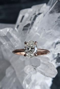 30 Simple Engagement Rings For Girls Who Love Classic ❤️ simple engagement rings oval cut diamond solitaire rose gold ❤️ More on the blog: https://ohsoperfectproposal.com/simple-engagement-rings/ #engagementringssimple