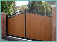Wrought Iron Wood Gate Design Ideas, Pictures, Remodel and
