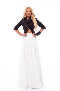 Off White Dress - Long Sleeve Modest off white Maxi Dress : Modest ...
