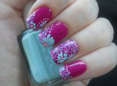 Holy Manicures: Spring Bouquet Nails.