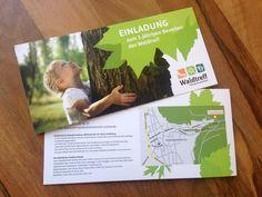 Grafikdesign einer Einladungskarte für den Waldtreff Handschuhsheim #flyer #karte #grafikdesign #wald #pädagogik #heidelberg ©wirkraum