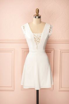 1861.ca Marieluc Pure - Sleeveless lace white dress $58