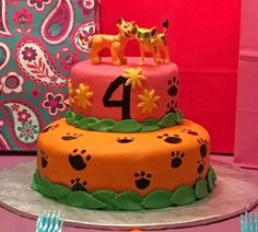 As close as i could get, Lion Guard themed cake!