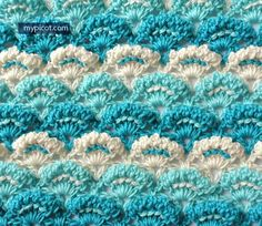 MyPicot   Crochet Textured Shell Stitch   Free crochet patterns   New pattern as of 4/2/15.     ♡ WELL, SHE DID IT AGAIN! THE SWEETEST, MOST BEAUTIFUL PATTERN FOR A BABY BLANKET...AND A TON OF OTHER THINGS TOO, OF COURSE! ♥A
