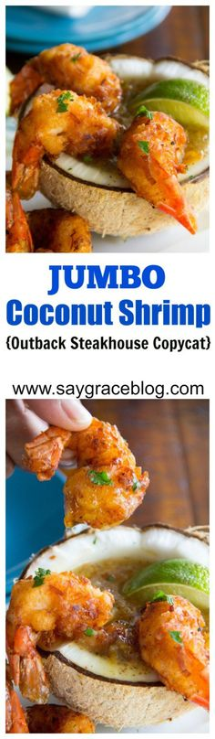These jumbo fried coconut shrimp and creole orange marmalade sauce make for a great copycat appetizer right in the comfort of your very own home!!!