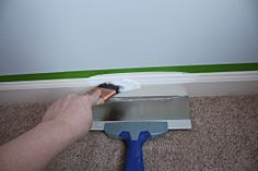 Paint trim without it getting on the carpet.
