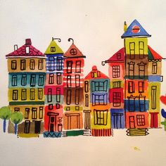 Amsterdam #4. I'm in love with this place. #amsterdam #watercolor #paint #painting