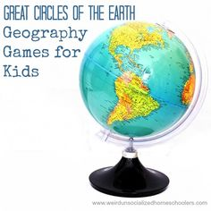 Develop geographical literacy in your kids with these fun and active games. (Includes printables for playing)