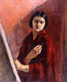 The Athenaeum - Self-Portrait with Easel (Amrita Sher-Gil - )