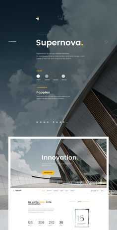 Supernova - Construction Website on Behance Layout Design, Web Layout, Page Design, Banner Design, Ui Design, Book Design, Construction Website, Construction Design, Construction Branding