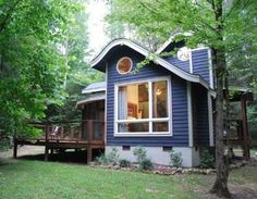 Love that roof line!...guest cottage at the Butterfly Gap Retreat near Maryville, Tennessee
