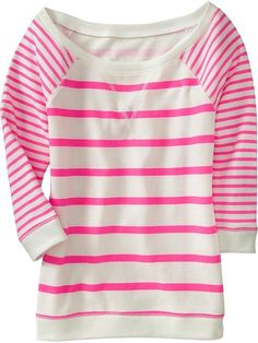 pink striped tee by evelyn