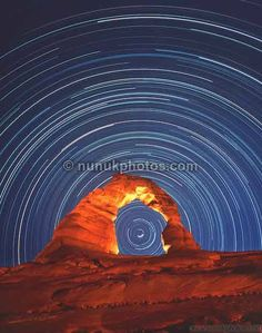 size: Photographic Print: Star Trails Seen Through a Natural Rock A by David Nunuk : Yosemite National Park, National Parks, Weathering And Erosion, Delicate Arch, Star Trails, Light Trails, Ways Of Seeing, Travel Usa, Framed Artwork