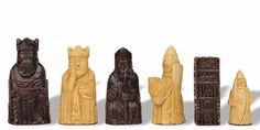 Isla miniatura de Lewis juego de ajedrez por Studio Anne Carlton
