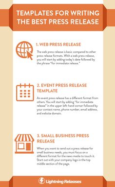 How to write a book press release template