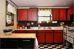 red kitchen on pinterest retro kitchens red kitchen and kitchens
