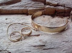 50% off SALE/ Large Gold Wrist Cuff with Chain by BohoBeachJewelry Tribal Bracelets, Cuff Bracelets, Bangles, Beach Jewelry, Body Jewelry, Unique Jewelry, Bohemian Gypsy, Modern Bohemian, 50 Off Sale