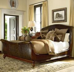 Coventry Leather Sleigh Bed 6 6 King Home Furnishings