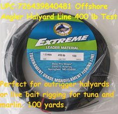 Offshore Angler Halyard Line 400 lb Test Live Bait Rig, Fishing Line, Tuna, Atlantic Bluefin Tuna