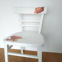 Shabby Chic upcycled chair, stand Vintage Shabby Chic, Decoupage, Upcycle, Chair, Furniture, Home Decor, Recliner, Homemade Home Decor, Upcycling