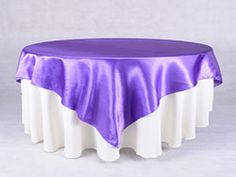 Square Satin table overlays, size: 60 by 60 inch. Wholesale offered in a range of colors. Fast shipping within 2 business days.