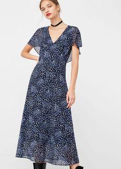 Kleid mit blumendessin | MANGO