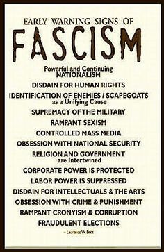If you are sincerely honest with yourself, you have to admit that Trump has all of these traits. And don't forget his constant lying. Fascism: political theory advocating an authoritarian hierarchical government (as opposed to democracy or liberalism) Les Suffragettes, Religion, Youre My Person, Thats The Way, Warning Signs, Social Justice, In This World, Obama, Socialism