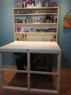 45 Good Folding Wall Table Ideas for Space Saving diy murphy craft table - Diy Craft Table Table Murphy, Murphy Desk, Table Diy, Craft Tables, Porch Table, Diy Porch, Fold Down Table, Drop Down Table, Diy Computer Desk