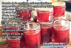 confiture de rhubarbe pour lutter contre la constipation