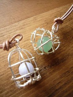 Caged lucky stone
