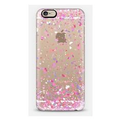 Love Confetti Explosion Transparent iPhone ($40) ❤ liked on Polyvore