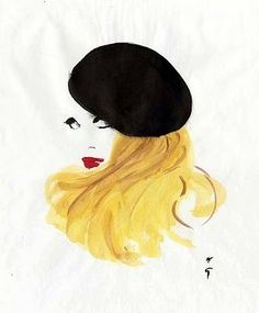 Fashion illustration by René Gruau (Feb. 1909-March 2004)