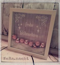 Ribba frame for Christmas – plotter – # for …, # for … - Weihnachten 3d Christmas, Christmas Frames, Dollar Tree Christmas, Christmas Pictures, Christmas Presents, Handmade Christmas, Christmas Decorations, Xmas, 3d Frames