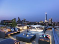Roof top terrace at The Music Box in London SE1