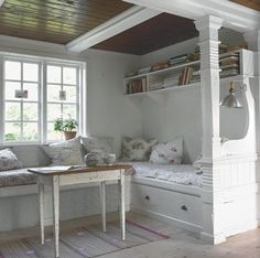 how charming!  myfarmhouse:    sweethomestyle:    itsmilan    i want this reading nook.