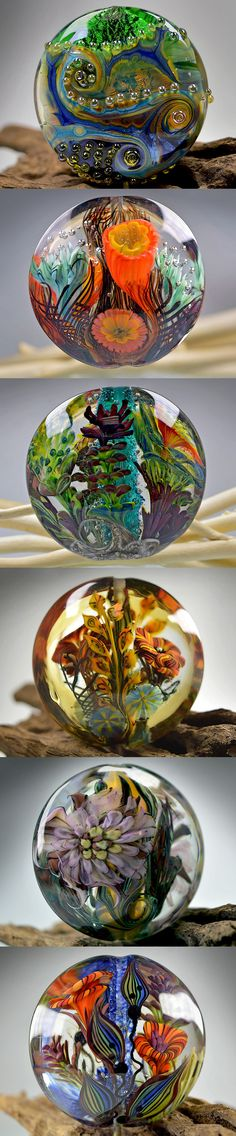 Awesome lampwork jewelry by Elena Hernburg