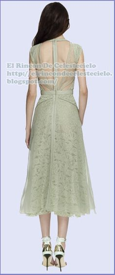 J. Mendel espalda vestido