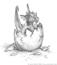 Hatchling by Ironshod on DeviantArt - dragon - Zeichnung Fantasy Drawings, Pencil Art Drawings, Animal Drawings, Cool Drawings, Fantasy Art, Joker Pencil Drawing, Sketch Art, Drawing Sketches, Tattoo Sketches