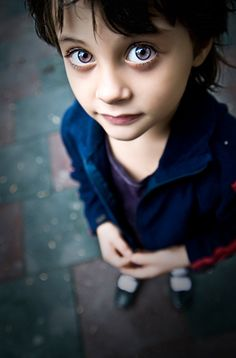 Eyes of prophecy/destiny on an innocent child. Doesn't realize how his life is already napped out.