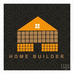 home builder logo | Exclusive Customizable Logo For Sale: Home Builder