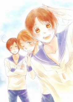 Hetalia - Romano, Seborga, and Veneziano…Adorable as always! <3